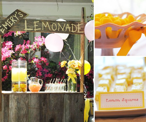 Lemonade Stand and Lemon Treats