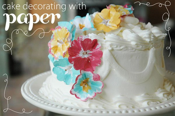 Cake Decoration With Paper : DIY Tutorial: Cake Decorating with Paper // Hostess with ...