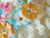Painted Cake Flowers