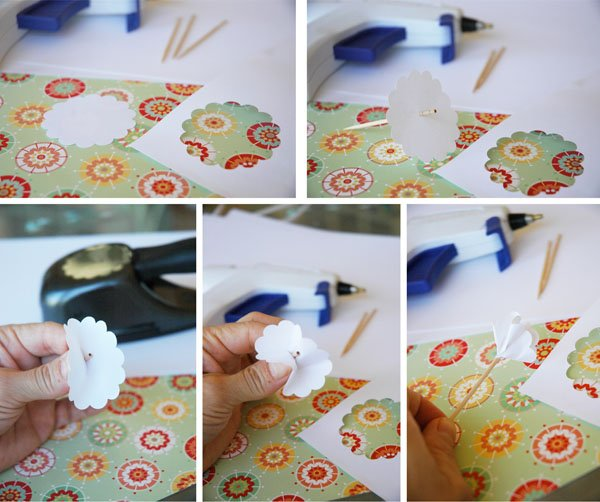 Step-by-step process for creating paper flowers