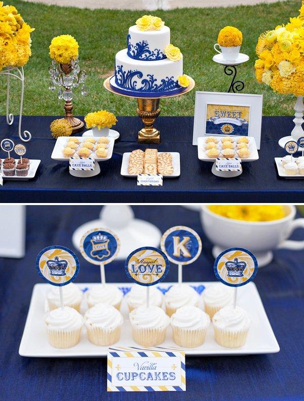 Royal Wedding Dessert Table