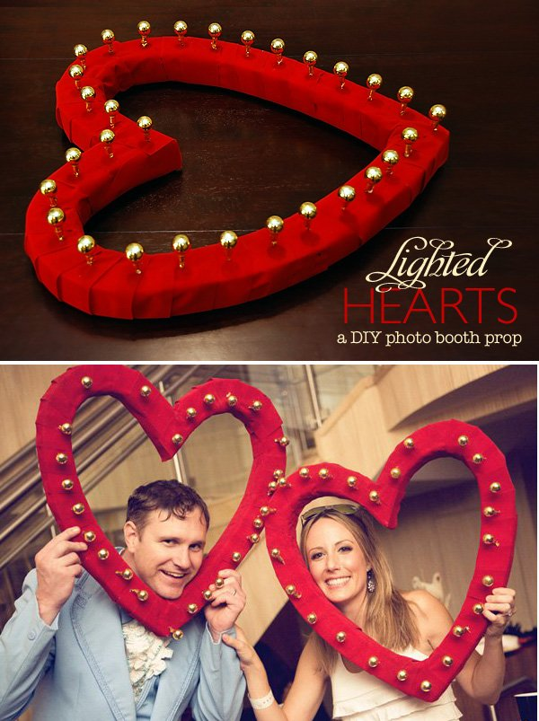 DIY Lighted Heart Photo Booth Prop - Valentine's Day