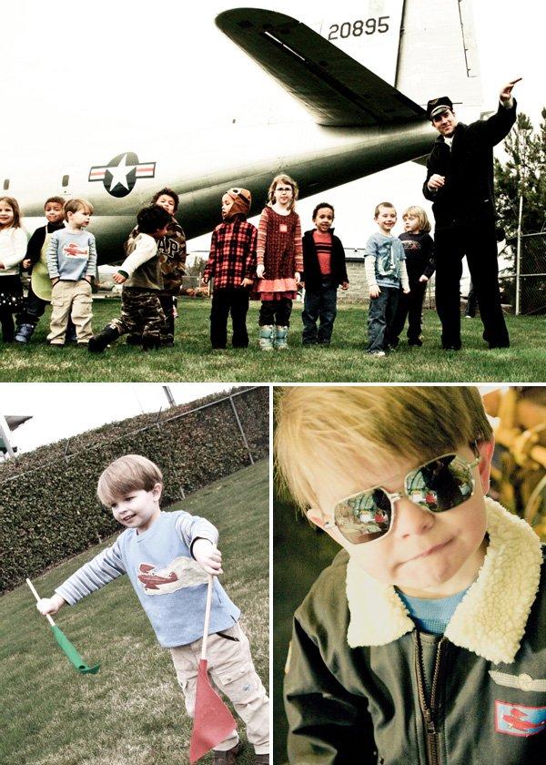 Vintage Airplane Boys Birthday Party