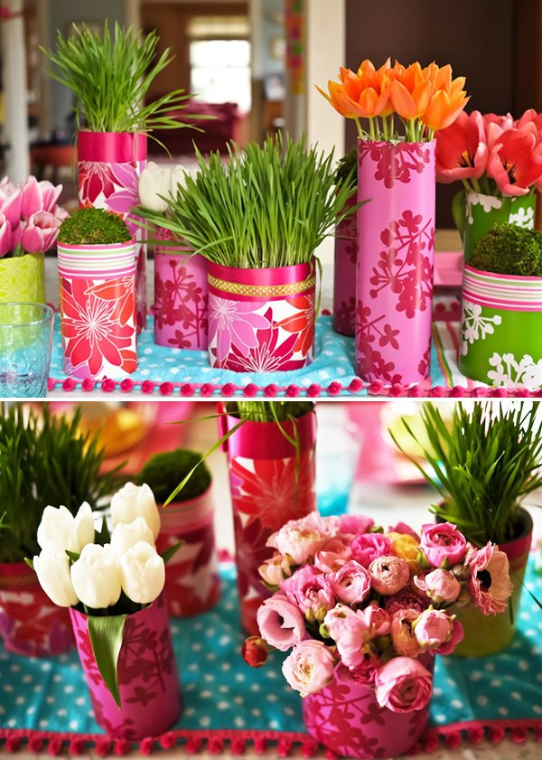Modern Centerpiece - Pattern + Color