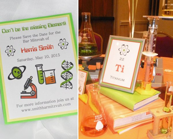 Chemistry Themed Bar Mitzvah Party