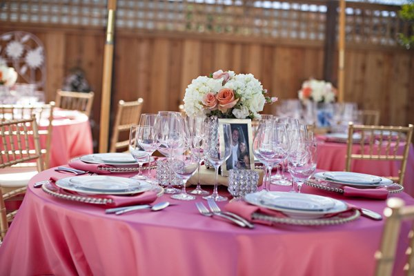 pink bridal shower tablescape