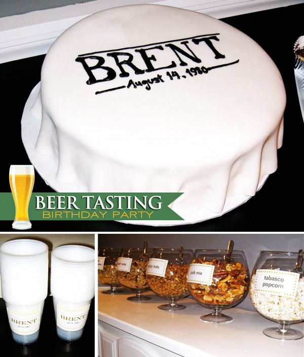 beer tasting 30th birthday party