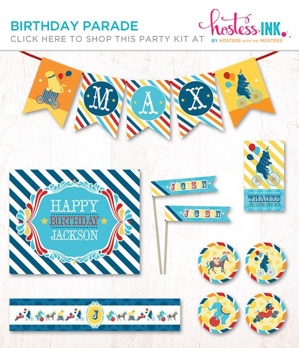 blue birthday parade party printables collection