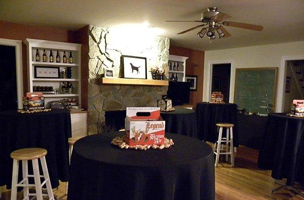 beer party room setup
