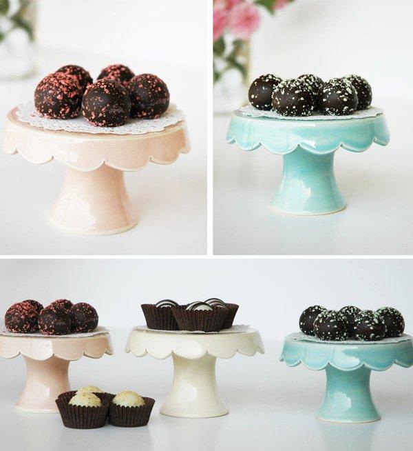 European Chocolates on Handmade Cupcake Stands