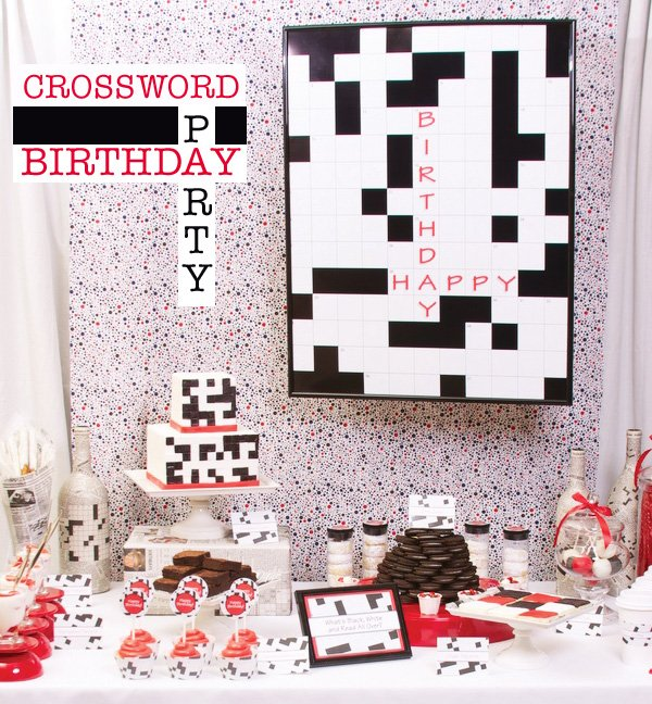 Clever Crossword Puzzle Dessert Table Hostess With The