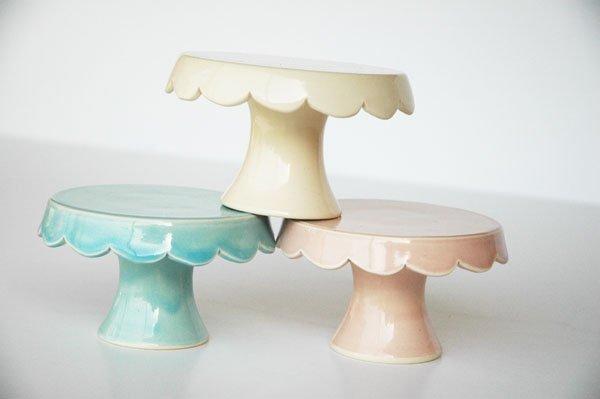 Handmade Cupcake Stands - Ivory, Vintage Blue & Vintage Pink