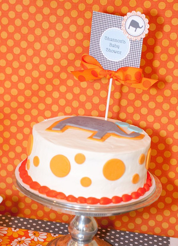 Elephants and Alphabets Baby Shower