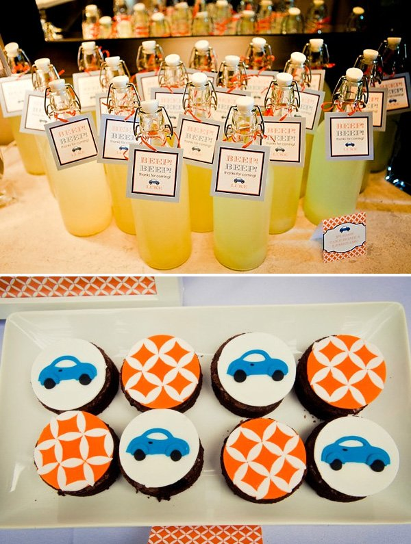 Little Blue Car First Birthday Party
