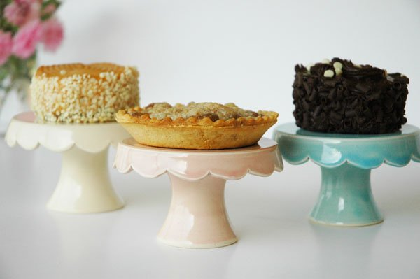 Mini Cakes displayed on Homemade Cupcake Stands
