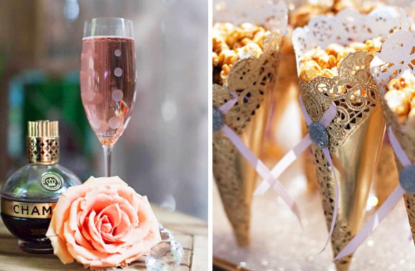 spring champagne bling bridal shower