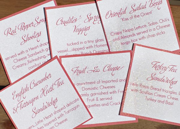 spring bring bridal food tags