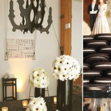 Vintage Mod Black & White Engagement Party
