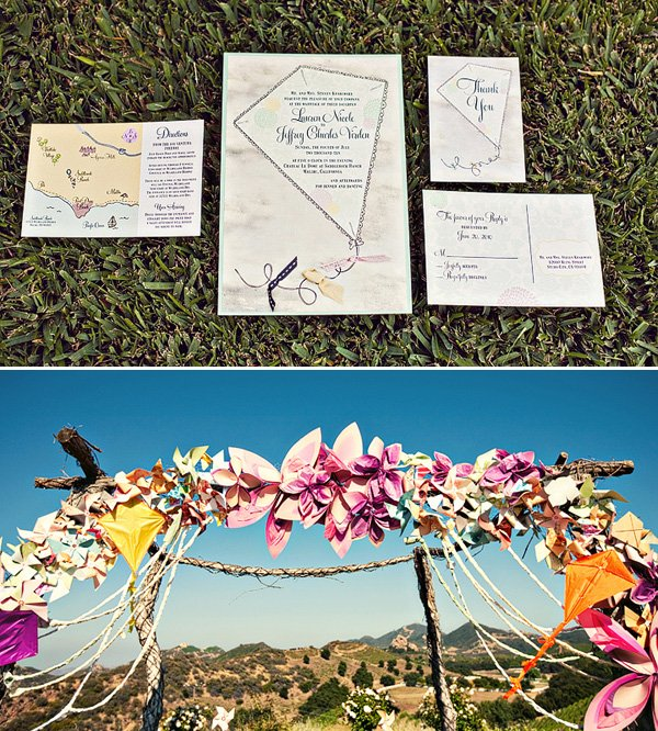 Whimsical Kite Themed Wedding