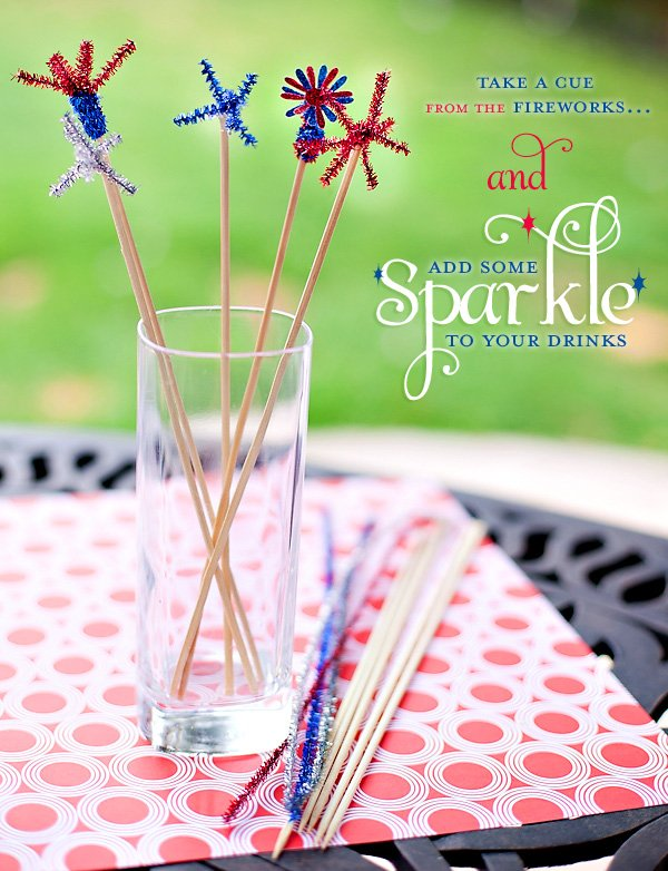 Easy 4th of July Party Ideas - drink Stirrers