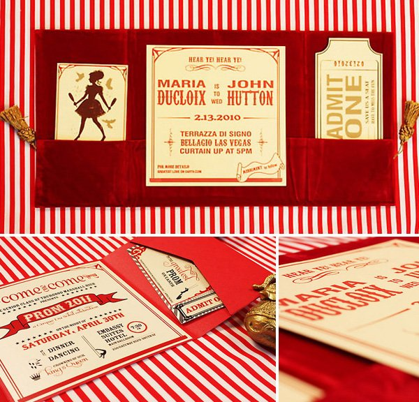 LOL Letterpress Circus Theme Invitation