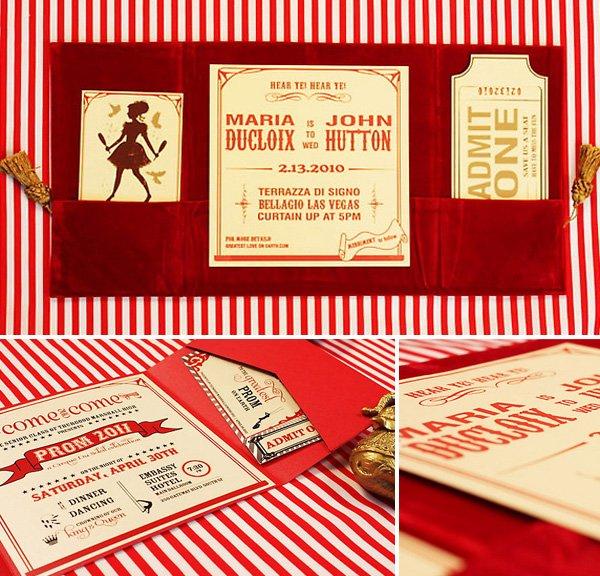 LOL Letterpress Circus Theme Invitation