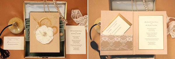 LOL Letterpress Vintage Lace Invitation