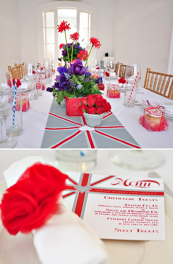 british themed bridal tea party brunch