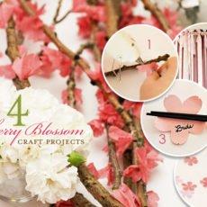 Cherry Blossom Inspired DIY Craft Projects