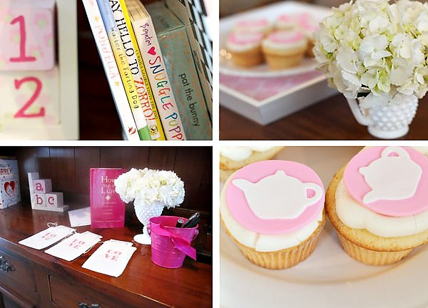 Book Signing Station and Cupcakes