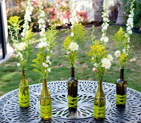 Floral Diy Wine Bottle Arrangements Hostess With The Mostess
