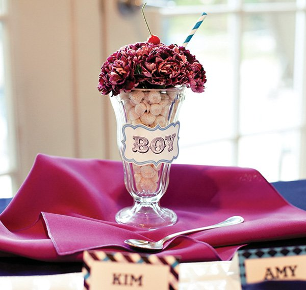 Vintage Sweet Shoppe Ice Cream Baby Shower