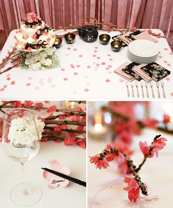 Love In Blossom Japanese-Inspired Wedding // Hostess with ...
