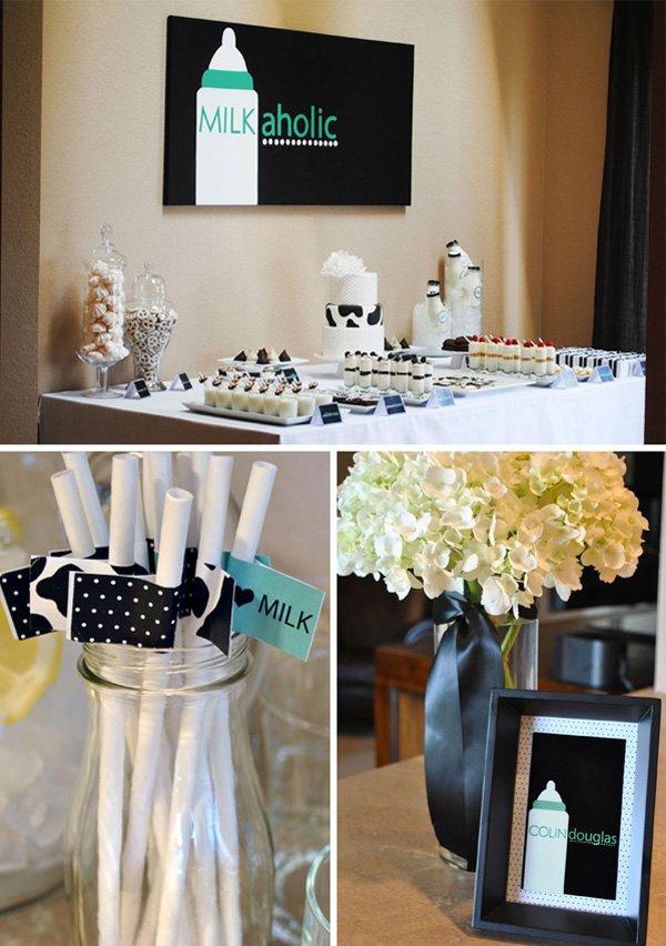 Dessert Table, Straws, Flowers