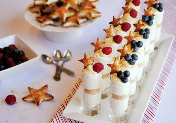 Patriotic Cheesecake Shots Recipe