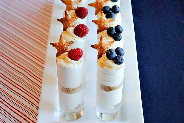 Patriotic Cheesecake Shots Recipe