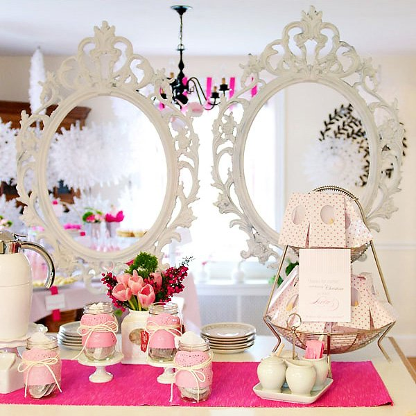 tea party baby shower ideas modern pink tea party baby shower