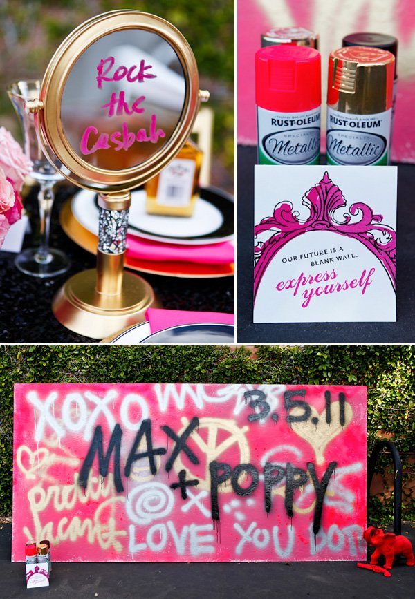Guest Book Alternatives: Graffiti Wall