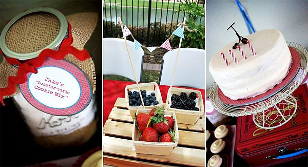 Scooter Berries, Cookies, & Cake