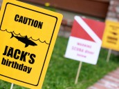 Shark Party Sign