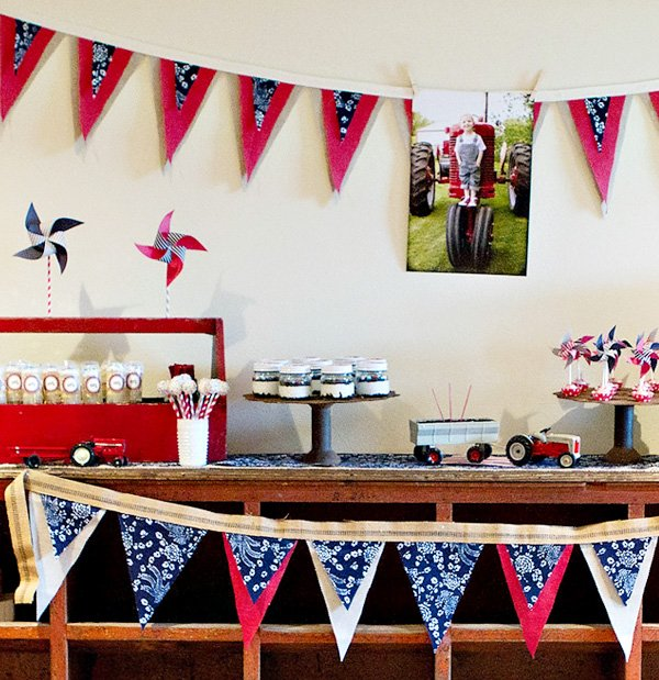 Tractor Themed Birthday Party