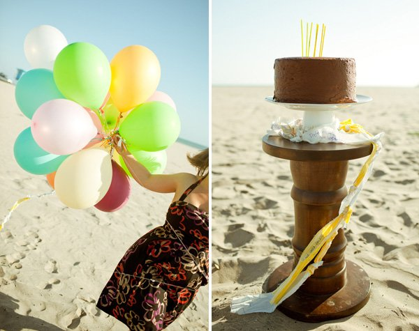 His & Hers 30th Birthday on the Beach
