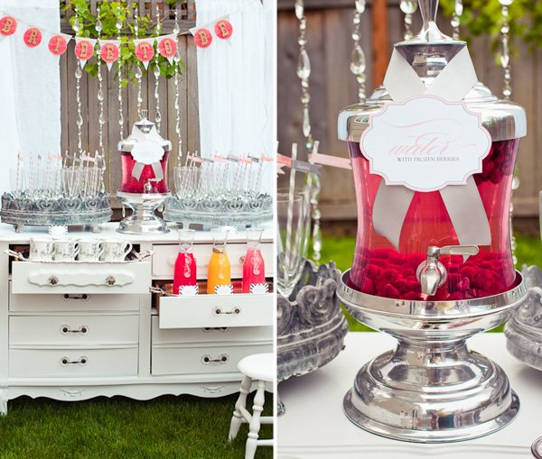 Vintage Modern Pink & Gray Bridal Shower