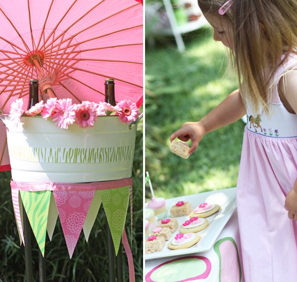 Zebra and Zinnia Garden Birthday Party