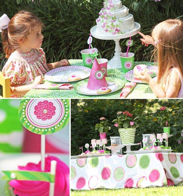 Zebra and Zinnia Garden Birthday Party