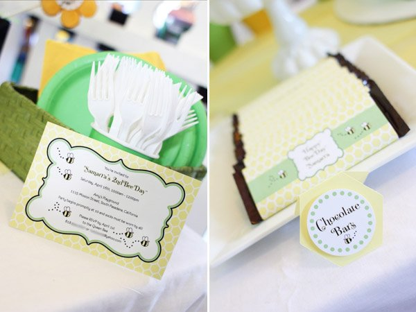 Adorable Bumble Bee Birthday Party