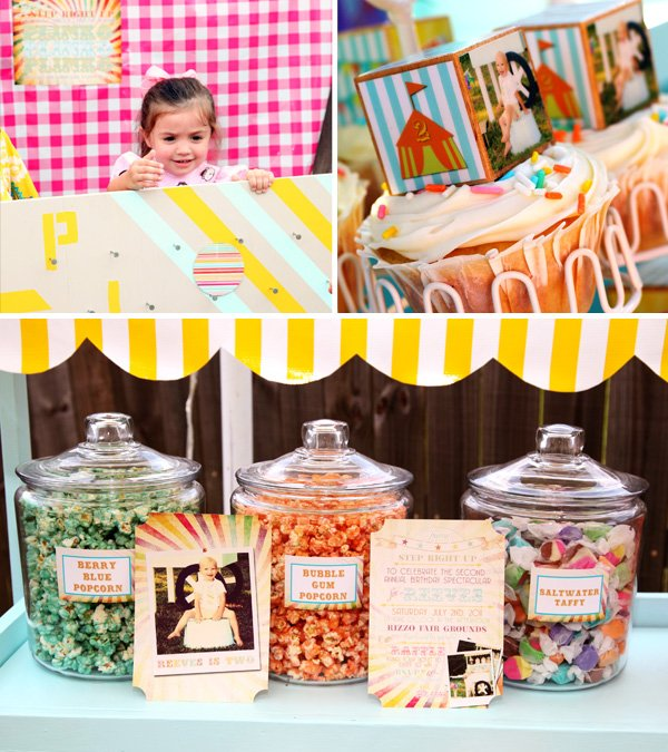 Carnival style candy cart