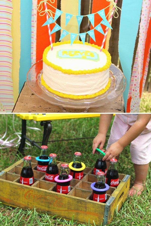 Cake and Bottle Toss