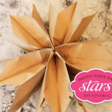 Brown Paper Bag Star Tutorial