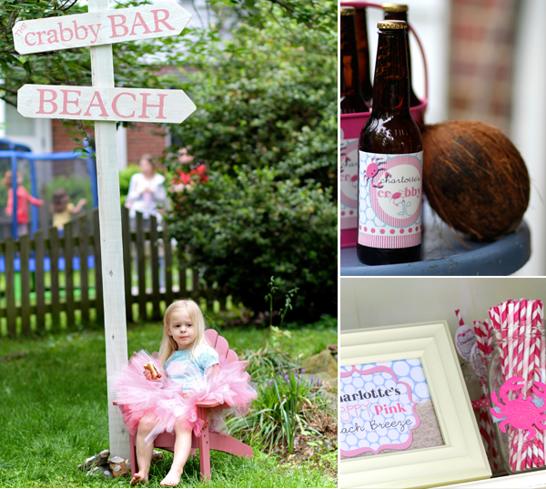 Crabby Girl, Crabby sign, Crabby beer, and party printables